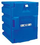 Justrite 4 L Azul Gabinete de almacenamiento de material peligroso - Parte superior del banco - Ancho 14 1/4 in - Altura 19 1/2 in - Parte superior del banco - 697841-04092