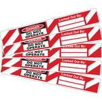 Brady 121449 Negro/Rojo sobre blanco Rectángulo Etiqueta de bloqueo/etiquetado - Altura 4 in - B-7569