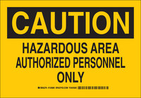 Brady B-555 Aluminio Rectángulo Letrero de material peligroso Amarillo - 10 pulg. Ancho x 7 pulg. Altura - 124683