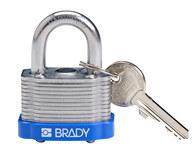 Brady Azul Acero 5 pernos Candado de seguridad con llave 143130 - Ancho 1 5/16 in - Altura 1 1/5 in - Número de llaves incluidas 1 - 754473-20802