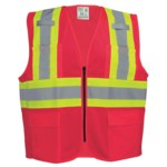 Global Glove Frog Wear Rojo Grande Malla/Poliéster Chaleco de seguridad - 810033-29034