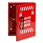 Brady Rojo Acero Estación de dispositivo de bloqueo - Ancho 12 pulg. - Altura 10 pulg. - 754476-45647