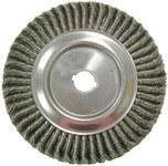 Weiler Acero Cepillo de rueda - Accesorio Eje - Agujero Central 1 1/4 pulg. - Diámetro de la cerda 0.016 pulg. - 08189