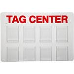 Brady Rojo/blanco Estación de etiquetas OSHA - 8 Bolsillos - Ancho 23 1/2 in - Altura 15 3/4 in - 754476-49265