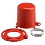 Brady Rojo Polipropileno Bloqueo de válvula de tapón 113234 - 754473-17667