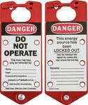 Brady Rojo Anodizado Aluminio Broche de bloqueo/etiquetado 65960 - Ancho 3 pulg. - Altura 7 1/4 pulg. - 754476-65960