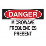 Brady B-302 Poliéster Rectángulo Cartel de peligro de radiación Blanco - 10 pulg. Ancho x 7 pulg. Altura - Laminado - 88715