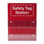 Brady Rojo/blanco Estación de etiquetas OSHA - 10 Bolsillos - Ancho 16 1/2 pulg. - Altura 22 pulg. - 754476-81773