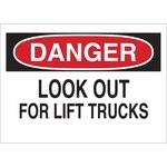 Brady B-302 Poliéster Rectángulo Letrero de tránsito de montacargas y camiones de almacén Blanco - 10 pulg. Ancho x 7 pulg. Altura - Laminado - 88131
