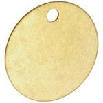 Brady 23210 Latón Círculo Latón Etiqueta en blanco para válvula - Ancho 1 1/2''de diámetro - Altura 0.04 pulg. - B-907