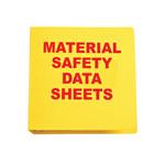 Brady Rojo sobre amarillo Carpeta de hojas de datos GHS y MSDS - MATERIAL SAFETY DATA SHEETS - Inglés - 754476-45337