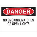Brady B-302 Poliéster Rectángulo Letrero de no fumar Blanco - 10 pulg. Ancho x 7 pulg. Altura - Laminado - 88376