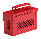 Brady Rojo Metal Caja de bloqueo grupal 73289 - Capacidad de Candado 13 - 754473-73289