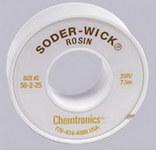 Chemtronics Soder-Wick #50 Amarillo Trenza de desoldadura de núcleo de fundente de colofonia - Longitud 25 pies - Diámetro 0.06 pulg. -