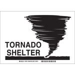 Brady B-302 Poliéster Rectángulo Cartel de refugio para tornado Blanco - 10 pulg. Ancho x 7 pulg. Altura - Laminado - 84770