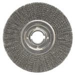Weiler Acero Cepillo de rueda - Accesorio Eje - Agujero Central 2 pulg. - Diámetro de la cerda 0.02 pulg. - 06200