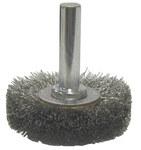 Weiler Acero Cepillo de cerdas radiales - Diámetro de la cerda 0.006 pulg. - 17950