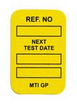 Brady Microetiqueta MIC-MTIGP Y Amarillo Vinilo Microinserto de etiqueta - Altura 1 7/8 pulg. - 14296