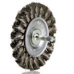 Dynabrade Acero Cepillo de rueda - Accesorio Eje - Diámetro de la cerda 0.02 pulg. - 78879