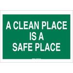 Brady B-555 Aluminio Rectángulo Letrero/aviso mantener limpio Verde - 10 pulg. Ancho x 7 pulg. Altura - 42350