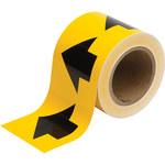 Brady 91287 Negro sobre amarillo Cinta de flecha de flujo direccional - Ancho 4 pulg. - Longitud 30 yd - B-946