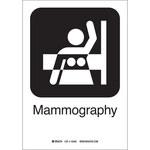 Brady B-401 Poliesterino de alto impacto Rectángulo Cartel de mamografía Blanco - 7 in Ancho x 10 in Altura - 142494