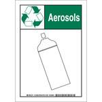 Brady B-555 Aluminio Rectángulo Cartel de medioambiente Blanco - 7 pulg. Ancho x 10 pulg. Altura - 129387