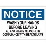 Brady B-302 Poliéster Rectángulo Letrero de higiene personal Blanco - 10 pulg. Ancho x 7 pulg. Altura - Laminado - 88477