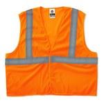 Ergodyne Glowear 8205HL Naranja de alta visibilidad Grande/XG Poliéster Malla Chaleco de alta visibilidad - Para tamaño del pecho 44 a 52 in - 720476-20965