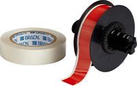 Brady ToughStripe B30C-1125-483RD-KT Rojo brillante Poliéster Cinta imprimible para marcar el piso con sobrelaminado - Interior - Ancho 1.125 pulg. - Longitud 100 pies - B-483, B-634