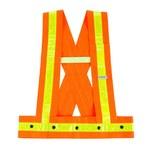 Ergodyne Glowear 8140HG Naranja de alta visibilidad Mediano/Grande Poliéster Oxford Chaleco de alta visibilidad - 1 Bolsillos - 720476-20424