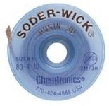 Chemtronics Soder-Wick #4 Azul Trenza de desoldadura de revestimiento de fundente de colofonia - Longitud 10 ft - Diámetro 0.11 in -