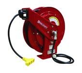 Reelcraft Industries Serie L 70000 75 pies Rojo Acero Carrete de cable - longitud total 19.75 pulg. - Ancho 8.25 pulg. - Altura 20.25 pulg. - 01819