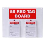 Brady Acrílico/papel Rectángulo Cartel de tablero de etiqueta roja Blanco - 122055