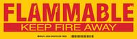 Brady 60294 Rojo sobre amarillo Rectángulo Poliéster Etiqueta de peligro de incendio - Altura 3 1/2 pulg. - B-302