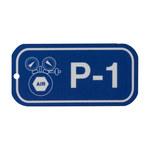 Brady 105654 Blanco sobre azul Poliestireno Etiqueta de fuente de energía - Ancho 3 pulg. - Altura 1 1/2 pulg. - B-401