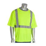PIP 312-1200-LY Amarillo Poliéster Camisa de alta visibilidad - Camiseta - Grado ANSI clase 2 - Para tamaño del pecho 51.2 pulg. - Longitud 28.3 pulg. - 616314-85499