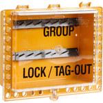 Brady Amarillo Acero Estación de dispositivo de bloqueo - Ancho 12.5 in - Altura 11 in - 662820-05034