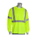 PIP 313-1300-LY Amarillo Poliéster Camisa de alta visibilidad - Camisa de manga larga - Grado ANSI clase 3 - Para tamaño del pecho 57.1 pulg. - Longitud 30.7 pulg. - 616314-82900