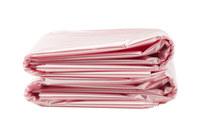 ACL Rosa 40-45 gal Liner de plastico desechable para cubeta - Longitud 46 pulg. - Ancho 40 pulg. -