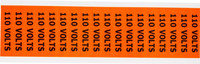 Brady 44301 Negro sobre naranja Rectángulo Paño de vinilo Marcador de conductos/voltaje - Altura 1/2 pulg. - B-498
