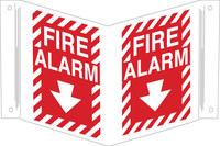 Brady B-450 Polietileno Rectángulo Cartel de alarma de incendios Rojo - 18 pulg. Ancho x 12 pulg. Altura - 96907