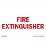 Brady Bradylite 20999LS Rojo sobre blanco Etiqueta del extintor - Altura 3.5 in - B-997