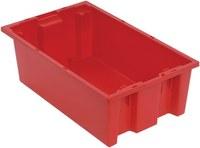 Quantum Storage 0.5 ft³, 3.7 gal Rojo Polímero de grado industrial Contenedor apilable - longitud 18 in - Ancho 11 in - Altura 6 in - 03889