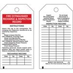 Brady 76222 Negro/Rojo sobre blanco Poliéster Etiqueta de extintor de incendios - Ancho 3 pulg. - Altura 5 3/4 pulg. - B-851