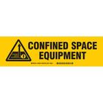 Brady 60290 Negro sobre amarillo Poliéster Etiqueta de almacenamiento de equipo - Interior/exterior - Ancho 12 pulg. - Altura 3 1/2 pulg. - B-302