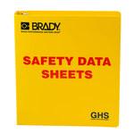 Brady Rojo sobre amarillo Carpeta de hojas de datos GHS y MSDS - SAFETY DATA SHEETS - Inglés - 754473-70690