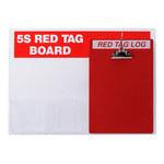 Brady Acrílico Rectángulo Cartel de tablero de etiqueta roja Blanco - 22 in Ancho x 16 in Altura - 122049