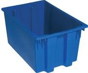 Quantum Storage 1.7 ft³ Azul Polímero de grado industrial Contenedor apilable - longitud 23 1/2 in - Ancho 15 1/2 in - Altura 12 in - 03927