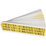 Brady Serie 34 3410-# KIT Negro sobre amarillo Paño de vinilo Kit de etiquetas de números - Interior - Ancho 11/32 pulg. - Altura 1/2 pulg. - 34152